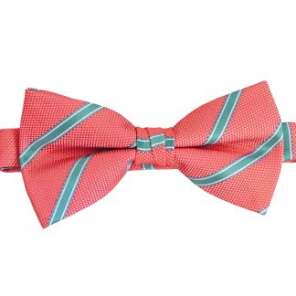 Samon, Turquoise Wide Stripe Banded Bow Tie 3291-0