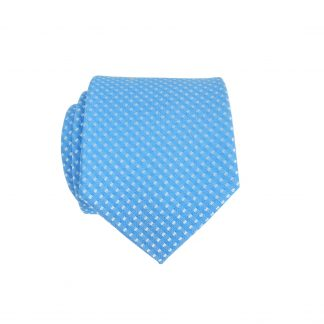 Medium Blue Gray Dot Skinny Men's Tie 776-0