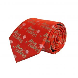 Red Merry Christmas Men's Tie 5879-0