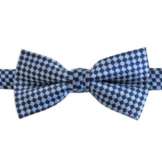 Navy, French Blue Basket Weave Banded Bow Tie 8889-0