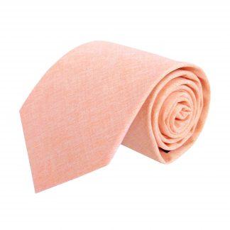Peach Solid Cotton Men's Tie 1707-0